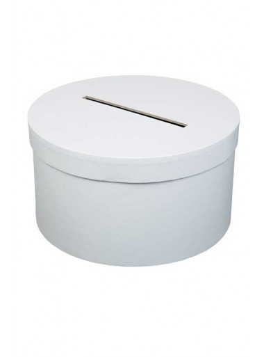 1 Urne tirelire ronde basse blanche 25cm