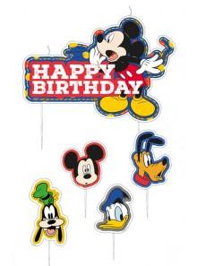 1 set de 5 bougies anniversaire Mickey