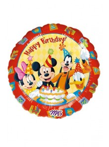 1 ballon HAPPY BIRTHDAY avec les amis de Mickey