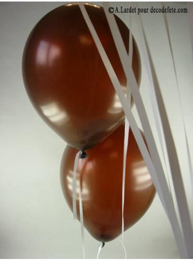50 ballons chocolat biodégradables