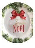 10 assiettes BOULE de NOEL