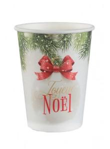 10 gobelets boule de Noel