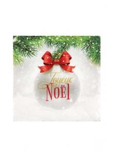 20 serviettes boule de Noel
