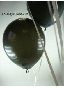 50 ballons noir biodégradables