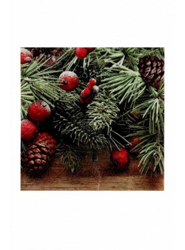 20 serviettes guirlande de Noel