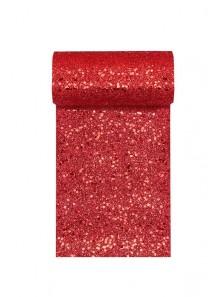 5M ruban PAILLETTES rouge 13cm