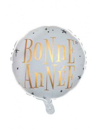 1 ballon métal  BONNE ANNEE  or