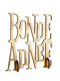 1 centre de table BONNE ANNEE  or