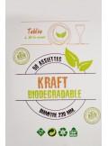 50 grandes assiettes KRAFT BIODEGRADABLE