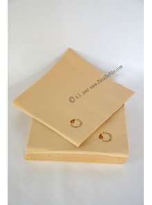 50 Serviettes caramel BIODEGRADABLE