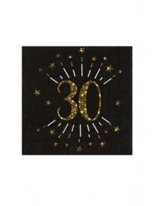 10 serviettes OR étincelles 30 ans