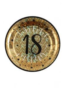 10 assiettes OR étincelles 18 ans