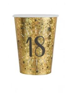 10 gobelets OR étincelles 18 ans