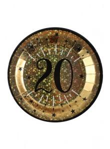 10 assiettes OR étincelles 20 ans