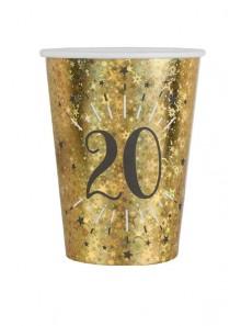 10 gobelets OR étincelles 20 ans