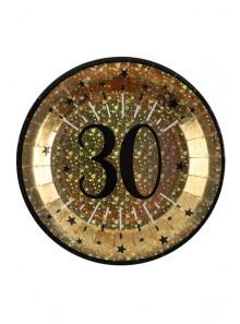 10 assiettes OR étincelles 30 ans