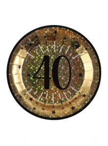 10 assiettes OR étincelles 40 ans