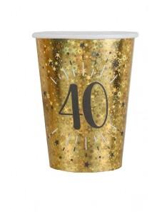 10 gobelets OR étincelles 40 ans