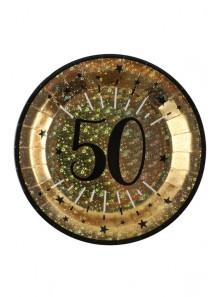 10 assiettes OR étincelles 50 ans