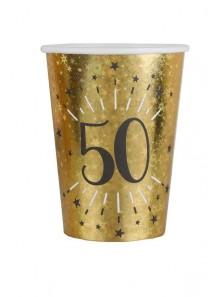 10 gobelets OR étincelles 50 ans