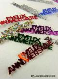 Confettis métal joyeux anniversaire multicolore