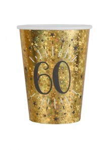 10 gobelets OR étincelles 60 ans