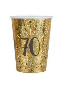 10 gobelets OR étincelles 70 ans