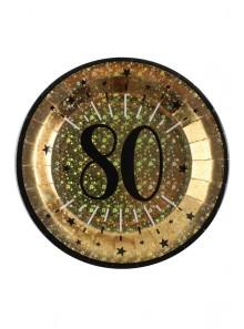 10 assiettes OR étincelles 80 ans