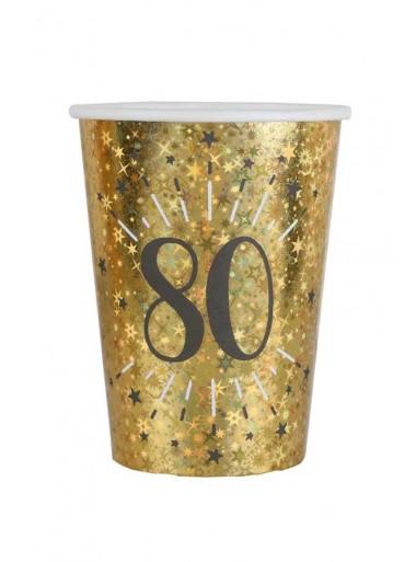 10 gobelets OR étincelles 80 ans