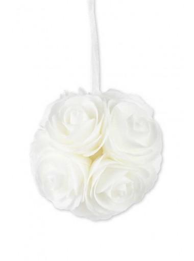 1 boule de roses BLANCHE 12.5cm