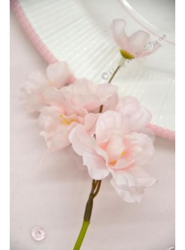 1 mini branche de cerisier rose