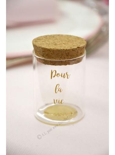 1 fiole en verre Pour la vie