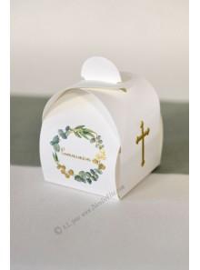 10 boites Communion CROIX OR