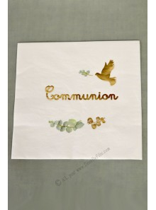 16 serviettes COMMUNION OR