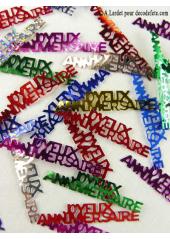 Confettis métal joyeux anniversaire