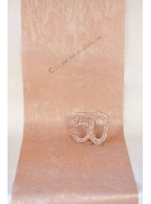 10M Chemin de table REFLET rose gold
