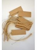 12 étiquettes rectangles KRAFT