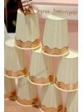 10 gobelets dentelle ROSE GOLD