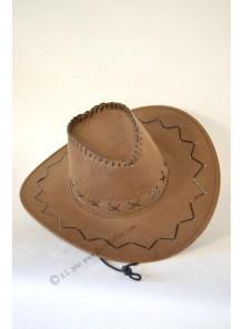 1 chapeau cow-boy feutre camel