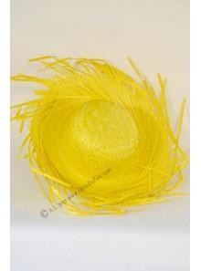 1 chapeau hawaïen paille jaune