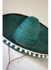 1 chapeau sombrero adulte vert