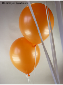 50 ballons orange biodégradables