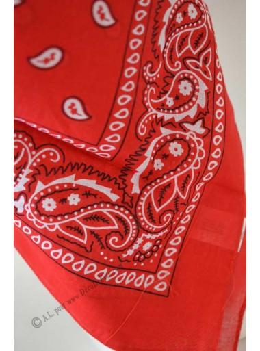 1 bandana rouge cow-boy
