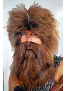 1 Perruque et barbe homme des cavernes