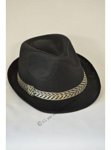 1 chapeau Borsalino noir