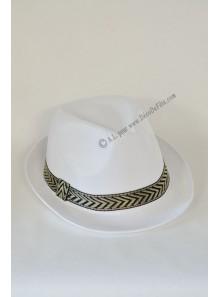 1 chapeau Borsalino blanc