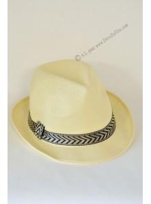 1 chapeau Borsalino crème