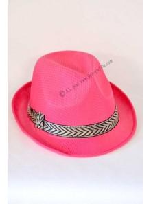 1 chapeau Borsalino fushia