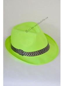 1 chapeau Borsalino vert fluo