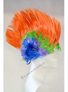 1 perruque punk multicolore